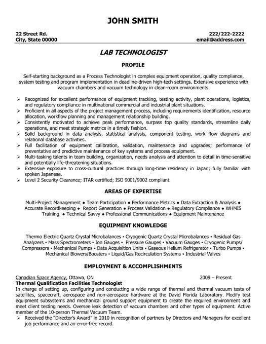 click here to this lab technologist resume template http resumetemplates101 technician Resume Clinical Lab Technician Resume Sample