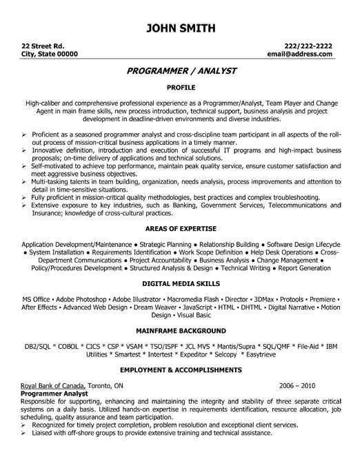 click here to this program analyst resume template http resumetemplates101 examples job Resume Media Analyst Resume Sample