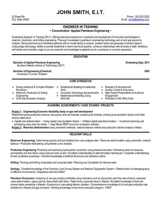 click here to this training engineer resume template http resumetemplates101 engin Resume Engineering Resume Format