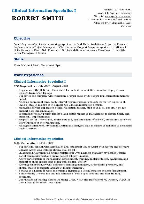 clinical informatics specialist resume samples qwikresume nursing example pdf words from Resume Nursing Informatics Resume Example