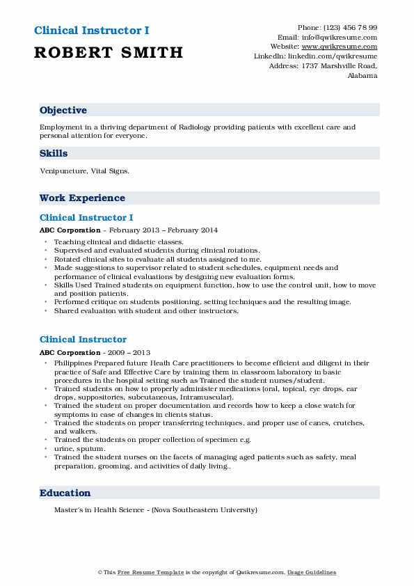 clinical instructor resume samples qwikresume nursing examples pdf wedding event planner Resume Nursing Instructor Resume Examples