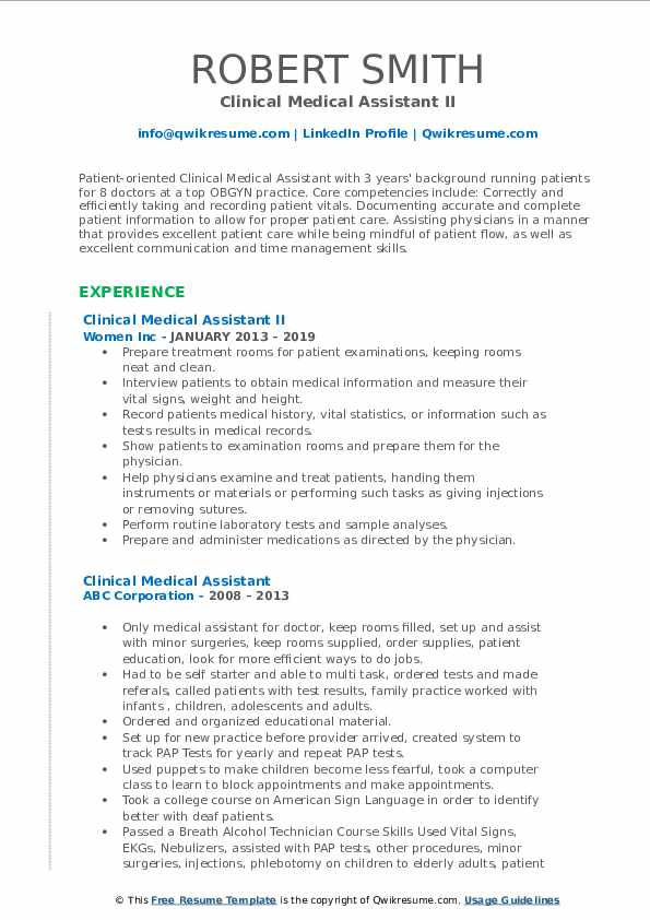clinical medical assistant resume samples qwikresume best examples pdf skills for Resume Best Medical Assistant Resume Examples