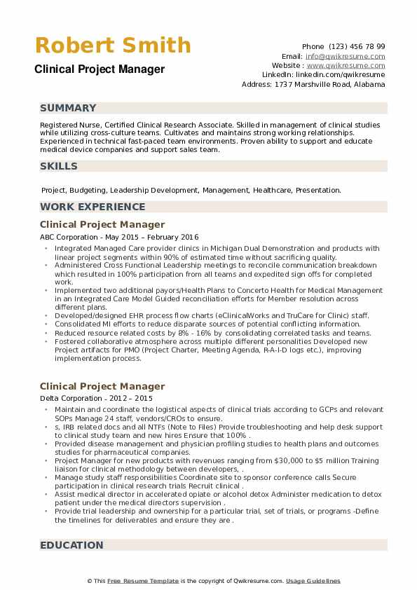 clinical project manager resume samples qwikresume pdf good colors wireline value Resume Clinical Project Manager Resume