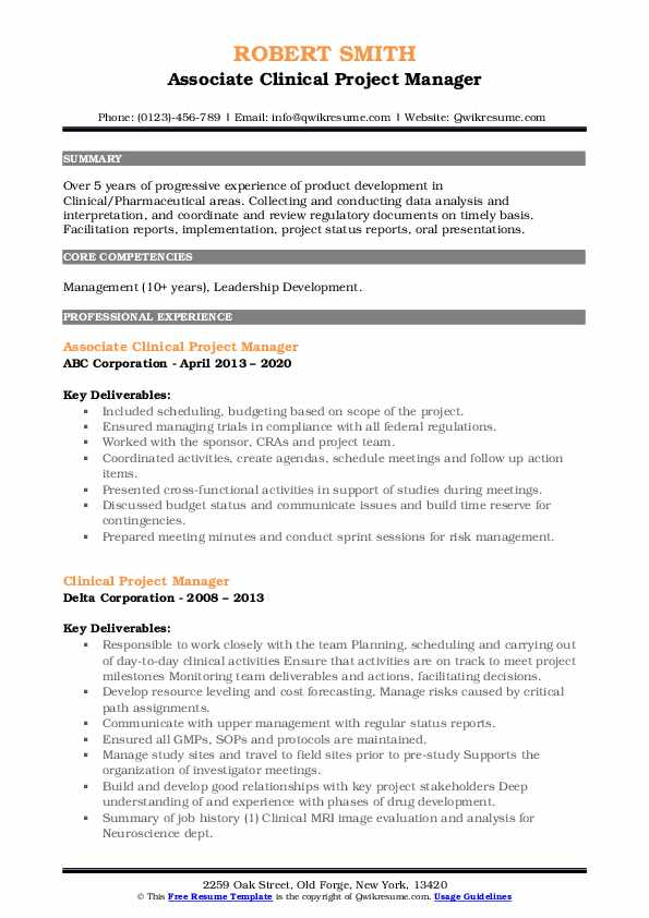 clinical project manager resume samples qwikresume pdf wireline acceptable reasons for Resume Clinical Project Manager Resume
