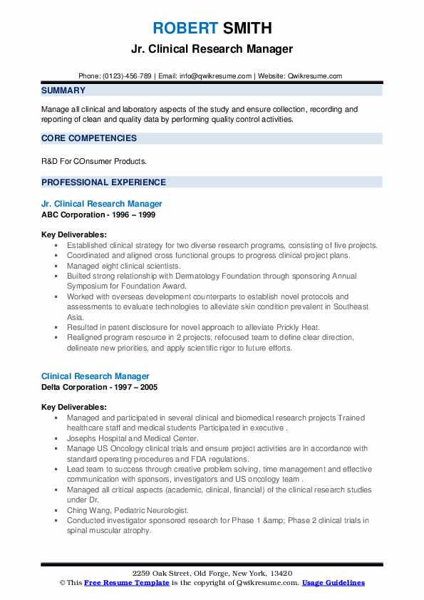 clinical research manager resume samples qwikresume project pdf graphic designer examples Resume Clinical Project Manager Resume