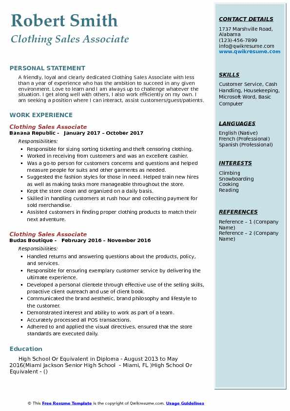 clothing associate resume samples qwikresume retail job description for pdf first college Resume Clothing Retail Job Description For Resume