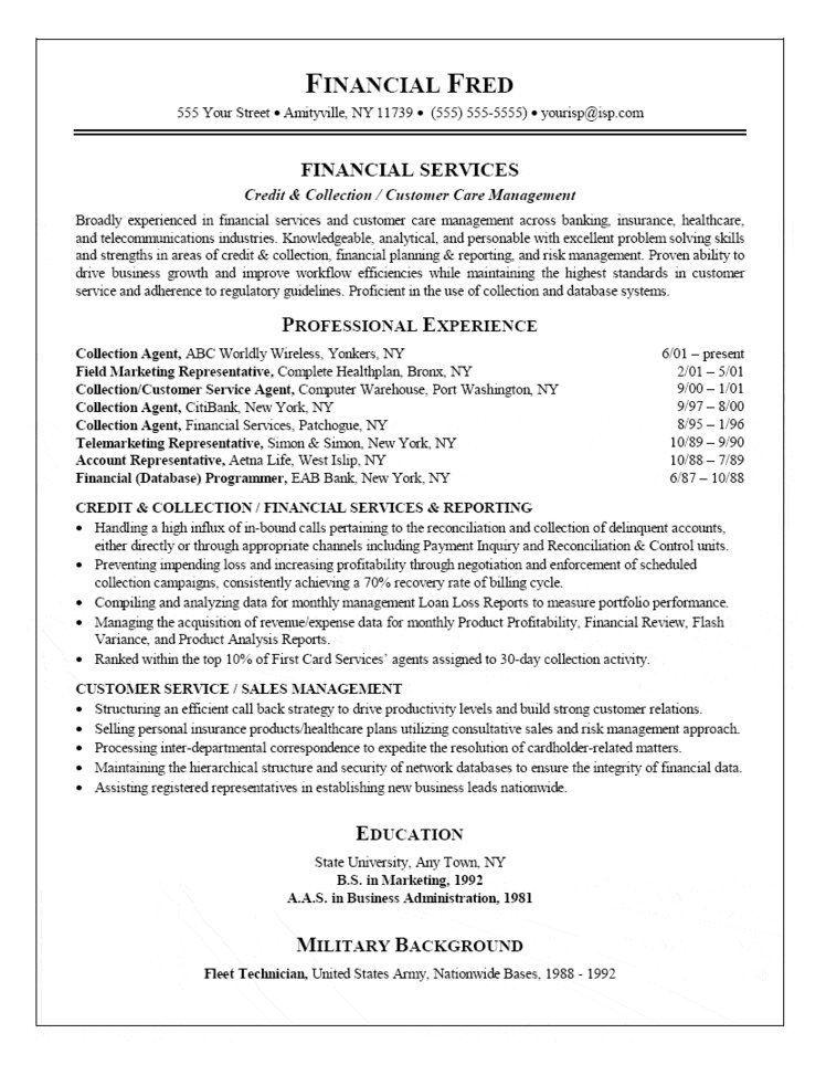 collection agent resume customer service cover letter for objective examples job Resume Collection Agent Job Description Resume