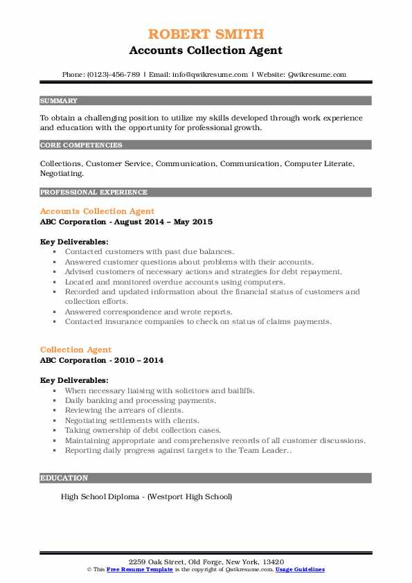 collection agent resume samples qwikresume job description pdf visually attractive Resume Collection Agent Job Description Resume