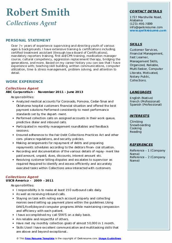 collections agent resume samples qwikresume collection job description pdf auto fill Resume Collection Agent Job Description Resume