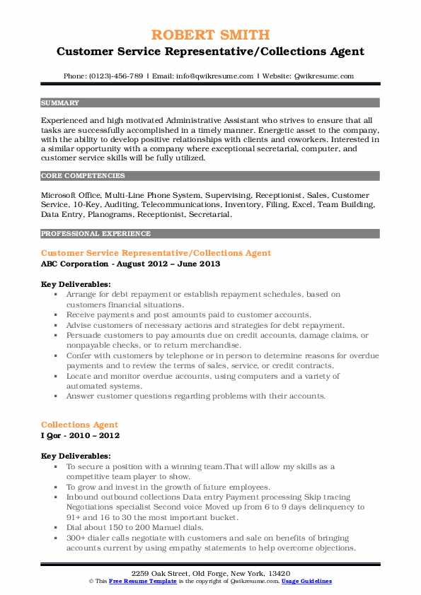 collections agent resume samples qwikresume collection job description pdf free column Resume Collection Agent Job Description Resume