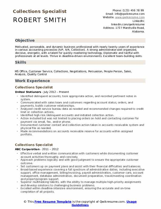 collections specialist resume samples qwikresume medical billing and pdf entry level Resume Medical Billing And Collections Specialist Resume