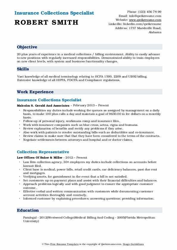 collections specialist resume samples qwikresume medical billing and pdf on the go Resume Medical Billing And Collections Specialist Resume