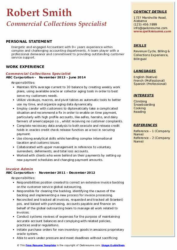 collections specialist resume samples qwikresume medical billing and pdf writing great Resume Medical Billing And Collections Specialist Resume