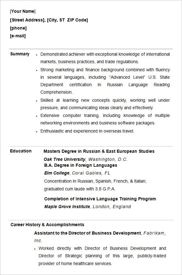 college resume template sample examples free premium templates recent grad samples Resume Recent College Grad Resume Samples