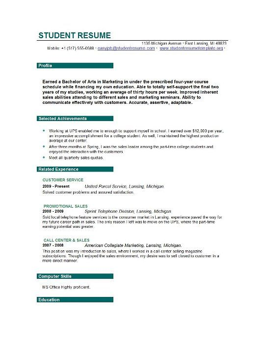 college student resume example sample best job objective statement examples for better Resume Objective For A College Resume