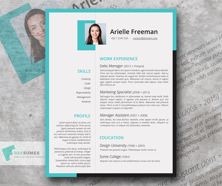 colors and shapes creative resume template freebie freesumes for college application Resume Creative Resume For College Application