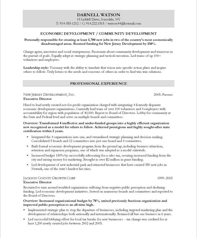 community development executive page1 free resume samples job examples value proposition Resume Value Proposition Resume