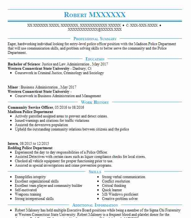 community service officer resume example resumes misc livecareer sap templates airs Resume Community Service Resume