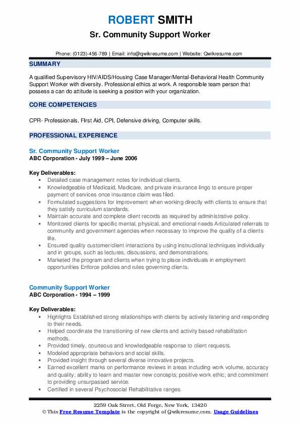 community support worker resume samples qwikresume for service pdf business examples new Resume Resume For Community Service Worker