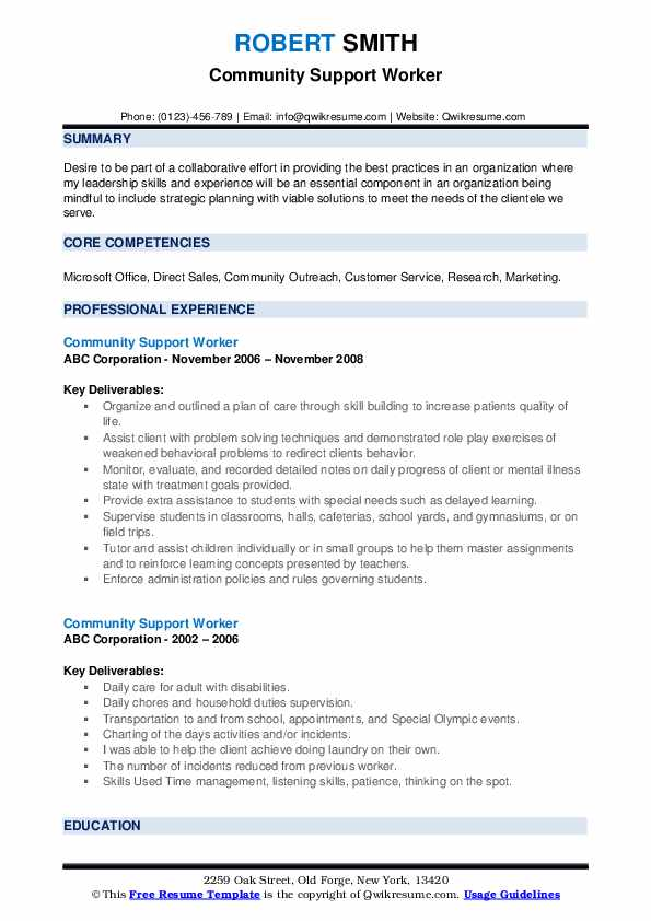 community support worker resume samples qwikresume for service pdf business examples Resume Resume For Community Service Worker