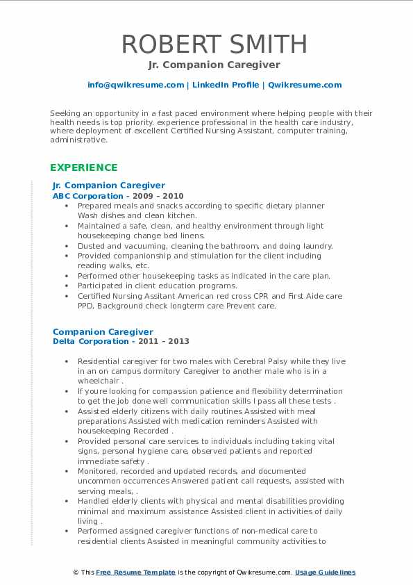 companion caregiver resume samples qwikresume patient pdf emailing cover letter and Resume Patient Companion Resume