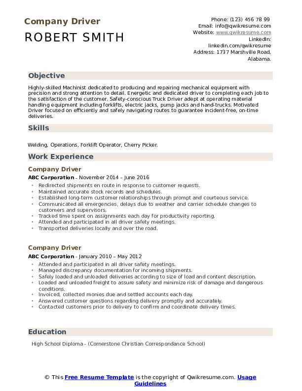 company driver resume samples qwikresume with one term job pdf interview questions master Resume Resume With One Long Term Job