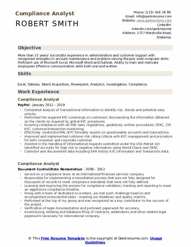 compliance analyst resume samples qwikresume kyc example pdf parking cashier was admin Resume Kyc Analyst Resume Example