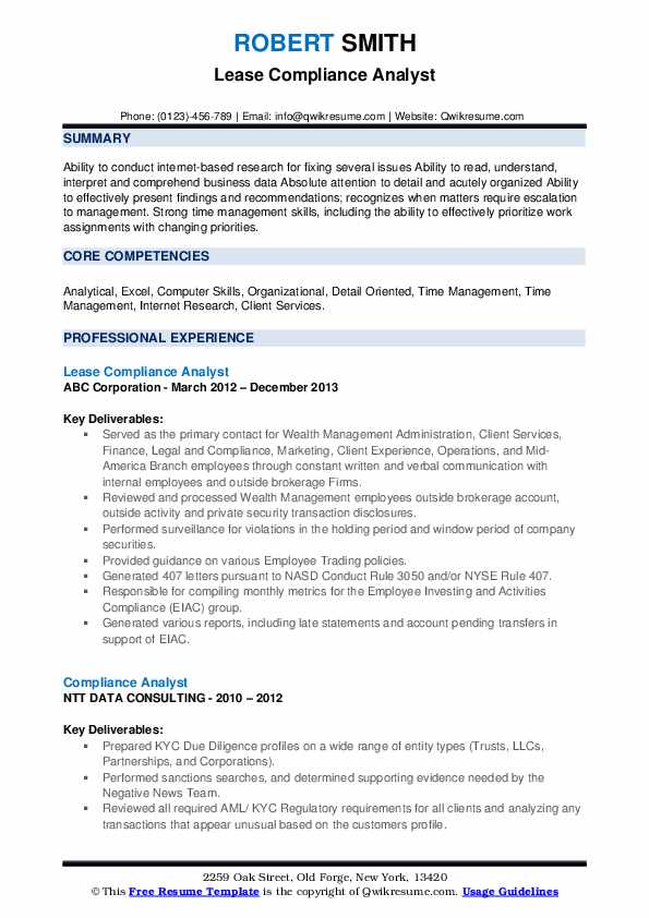 compliance analyst resume samples qwikresume kyc example pdf references template Resume Kyc Analyst Resume Example