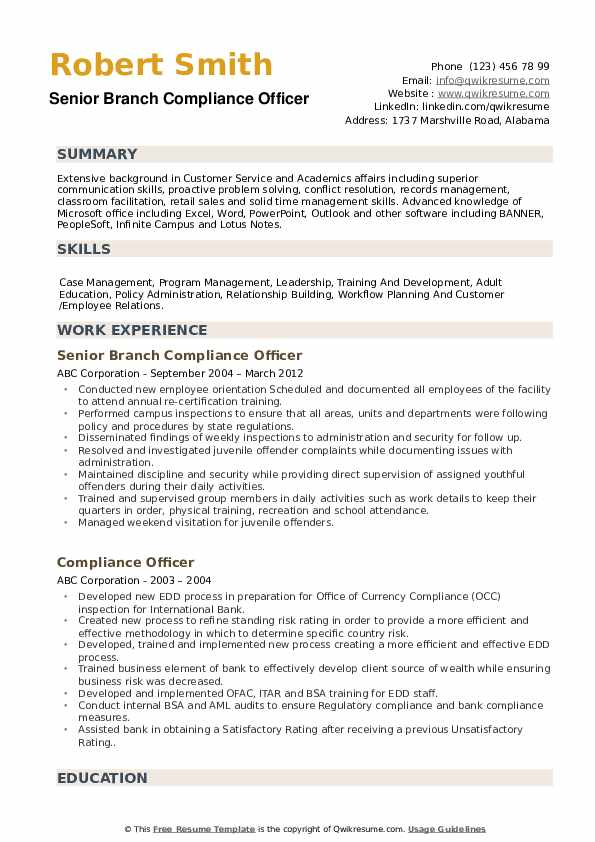 compliance officer resume samples qwikresume summary pdf marketing director examples Resume Compliance Officer Resume Summary