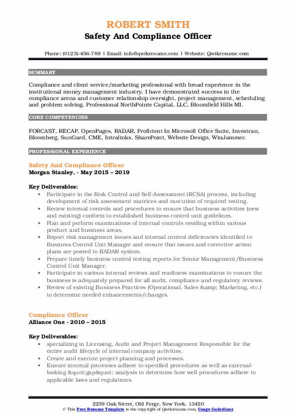 compliance officer resume samples qwikresume summary pdf second career examples client Resume Compliance Officer Resume Summary