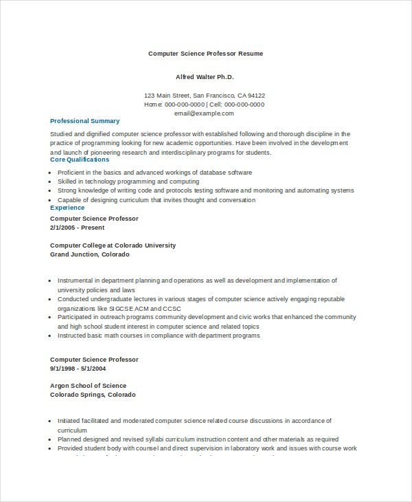 computer science resume example free word pdf documents premium templates strength of Resume Strength Of Student For Resume