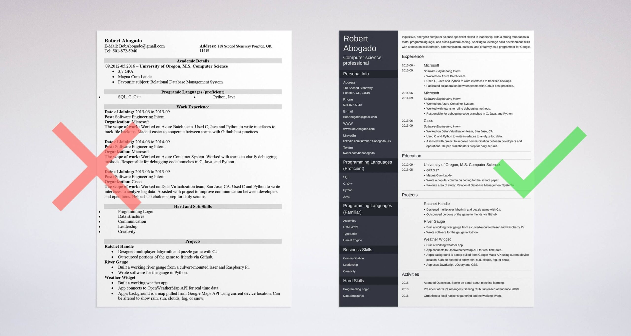 computer science resume example template guide samples for graduates companion login Resume Resume Samples For Computer Science Graduates