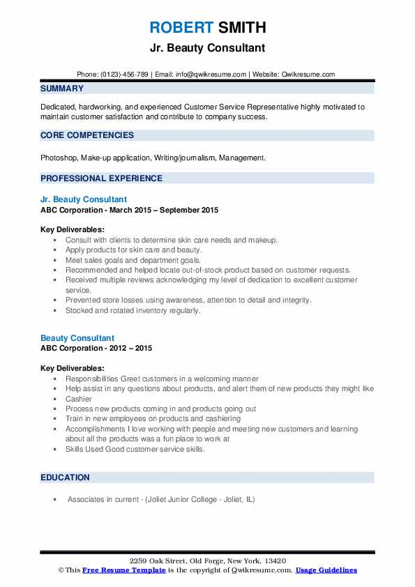 computer science resume format freshers beauty consultant job description template word Resume Kyc Analyst Resume Example