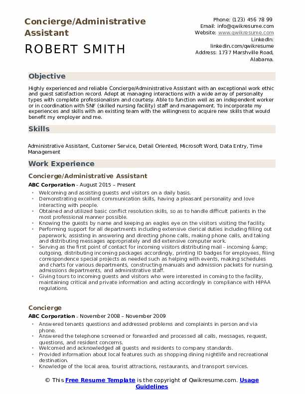 concierge resume samples qwikresume private security examples pdf now adobe spark sample Resume Private Security Resume Examples