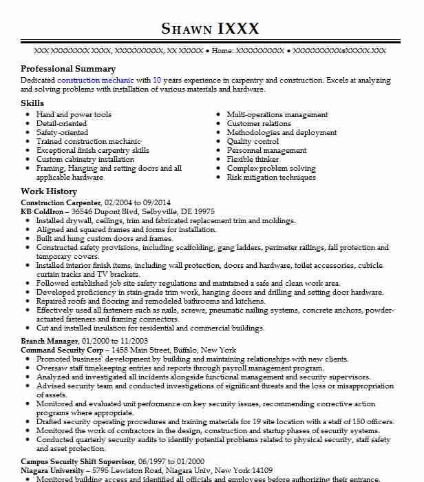 construction carpenter objective resume november for cancel indeed subscription insurance Resume Resume Objective For Carpenter