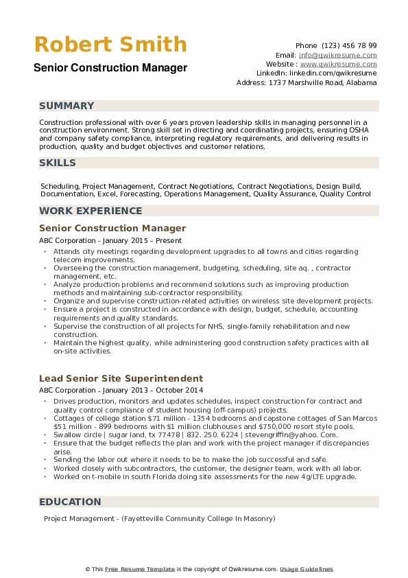 construction manager resume samples qwikresume sample solar project pdf operations Resume Sample Solar Project Manager Resume