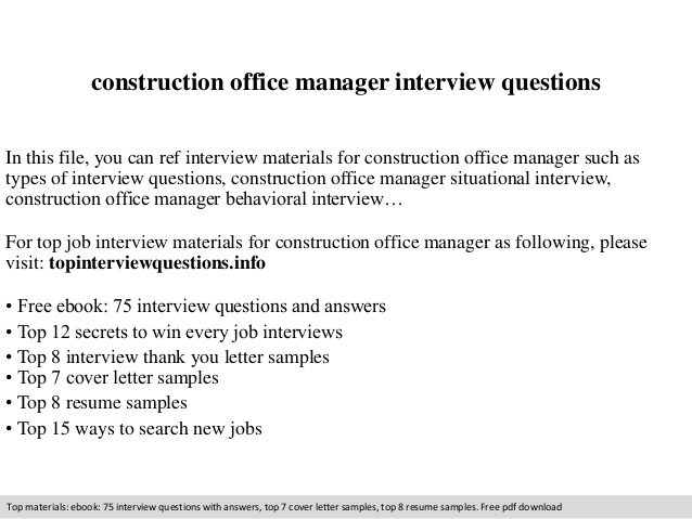 construction office manager interview questions resume profile examples template overleaf Resume Construction Office Manager Resume