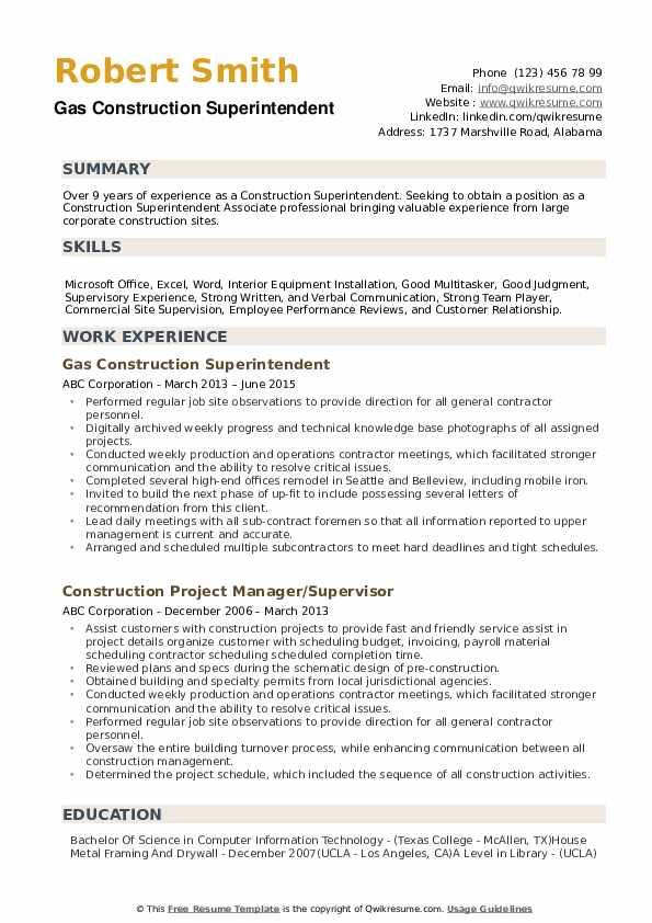 construction superintendent resume samples qwikresume examples and pdf freertos task Resume Construction Superintendent Resume Examples And Samples