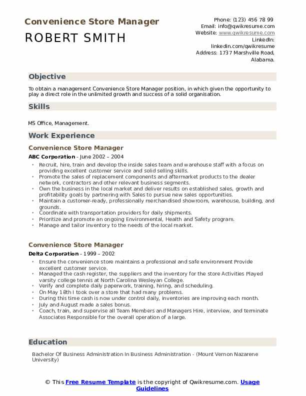 convenience store manager resume samples qwikresume objective retail pdf oracle developer Resume Resume Objective Retail Manager