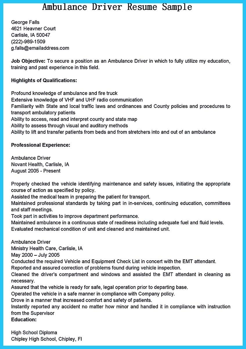 cool stunning bus driver resume to gain the serious job jobs ambulance examples school Resume School Bus Driver Resume