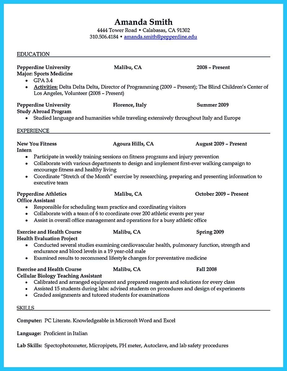 cool writing your athletic training resume carefully examples medical assistant teacher Resume Athletic Trainer Resume Sample