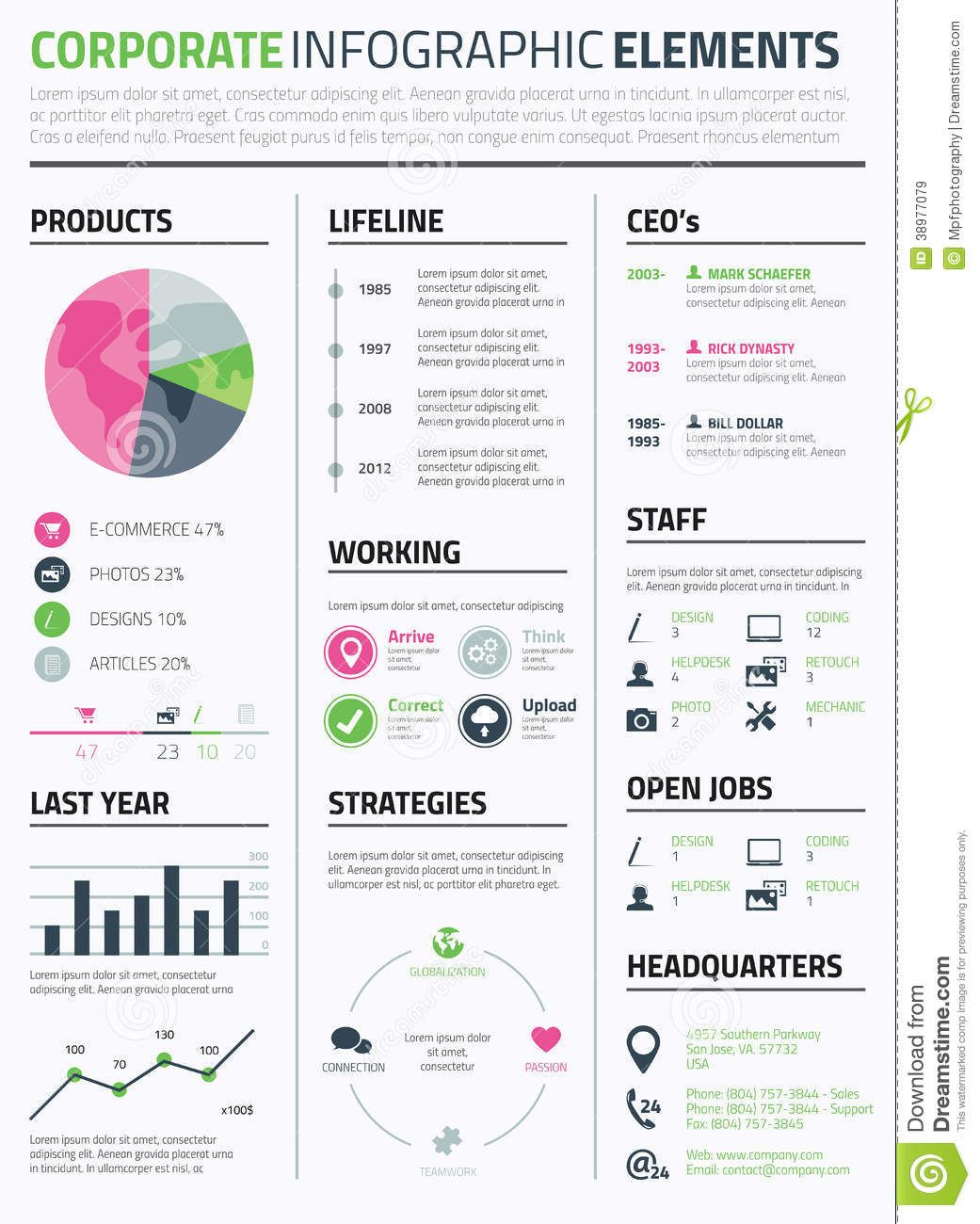 corporate infographic resume elements template from over million high quality stock Resume Infographic Resume Download