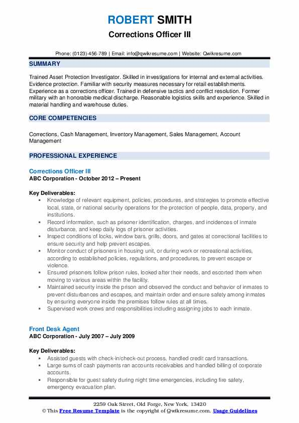 corrections officer resume samples qwikresume correctional duties pdf example of cover Resume Correctional Officer Duties Resume