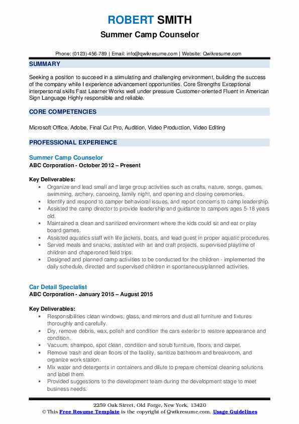 counselor resume samples qwikresume pdf specific ekg technician big four german format Resume Day Camp Counselor Resume