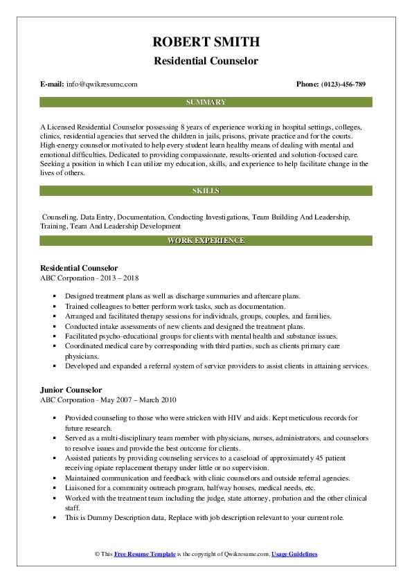 counselor resume samples qwikresume residential pdf objective for masters program words Resume Residential Counselor Resume