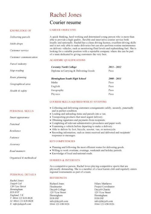 courier cv template january package delivery driver resume pic cost accountant summary Resume Package Delivery Driver Resume