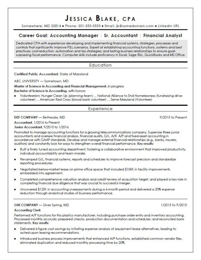 cpa resume sample monster designation on entry level dialysis technician with experience Resume Designation On A Resume