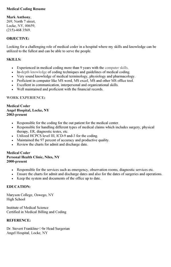 cpc experience cover letter resume medical billing perfect unfinished education on Resume Medical Billing Resume Cover Letter