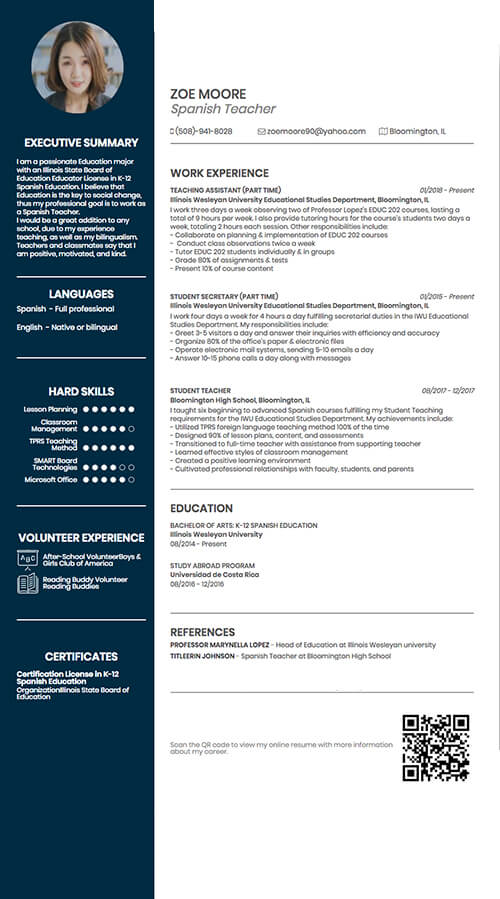 create cv from linkedin build much more engaging and eye catching with cvonline qr code Resume Linkedin Qr Code On Resume