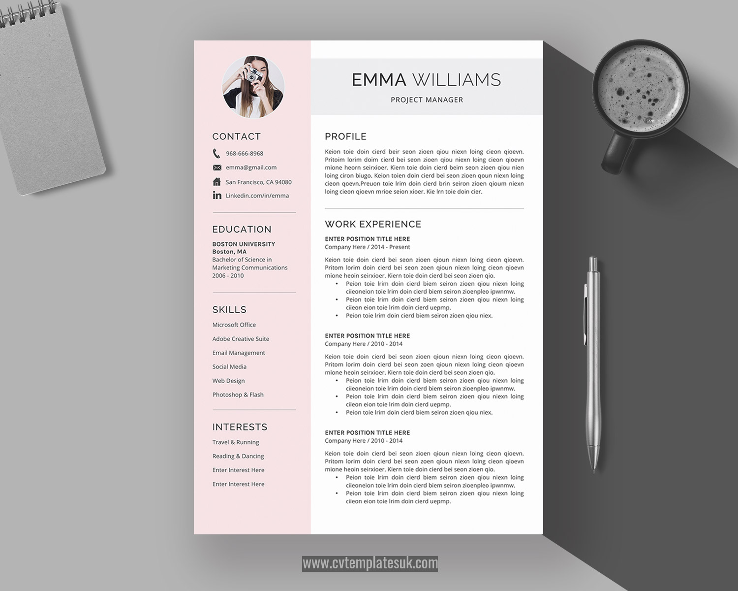 creative cv templates for microsoft word cover letter and references modern professional Resume Microsoft Word Resume Templates Modern